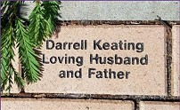 COMMEMORATIVE BRICK ON HEART OF HOSPICE PATH AT HOSPICE OF HUMBOLDT.
