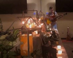 MARY ISIS SINGING BY THE MEMORIAL ALTAR AT 2019 LIGHT UP A LIFE CEREMONY