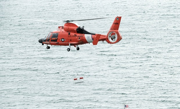 An MH-65 Dolphin helicopter. - COAST GUARD PHOTO BY CHIEF PETTY OFFICER BRANDYN HILL