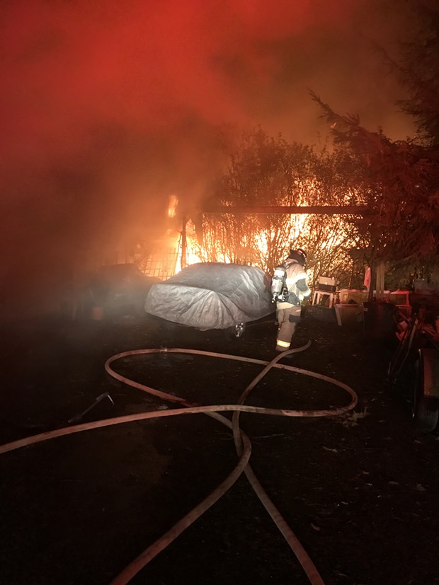 The fire on Babler Road in McKinleyville. - ARCATA FIRE PROTECTION DISTRICT