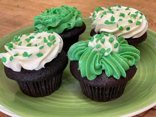 Chocolate cupcakes with plain buttercream or mint buttercream frosting - COURTESY OF RAMONE'S BAKERY