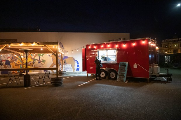 The Shanty truck parked beside its recently built parking lot patio. - PHOTO BY MARK MCKENNA