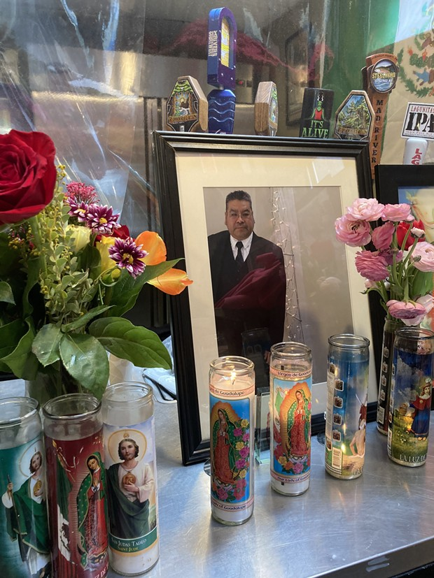 An ofrenda for Esteban Gonzales. - PHOTO BY JENNIFER FUMIKO CAHILL