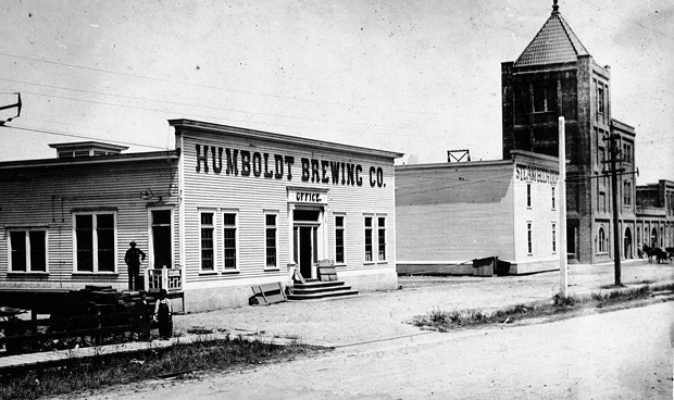 Humboldt County Brewing Company at Broadway and Harris in the 1910s. - HUMBOLDT COUNTY HISTORICAL SOCIETY