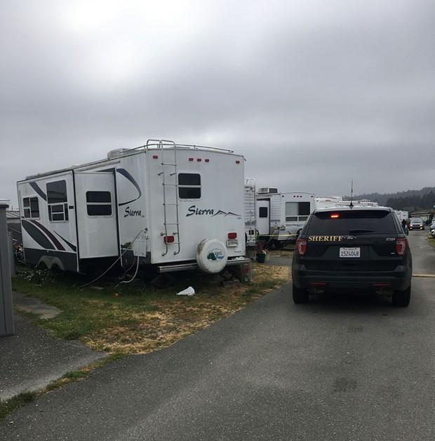 The scene in King Salmon. - HCSO