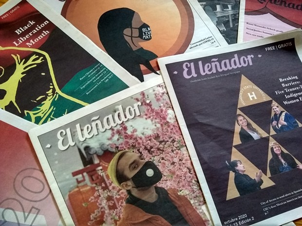 El Leñador newspaper 2020 covers - SUBMITTED