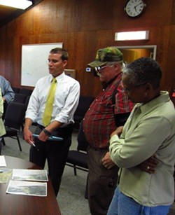State Sen. Mike McGuire, Rio Dell council members Frank Wilson and Debra Garnees Drought Resiliency Project Briefing in 2015. - SUBMITTED