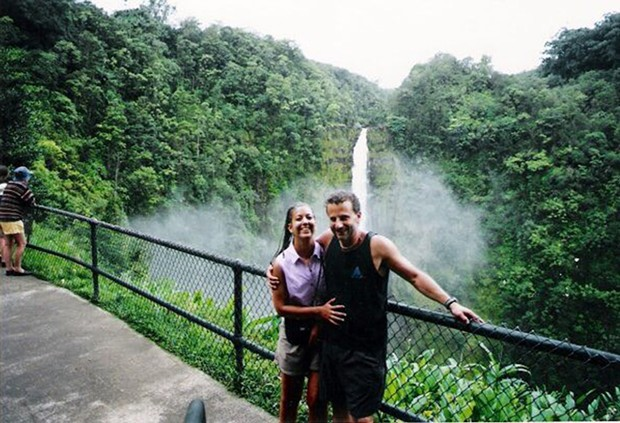 Diqui LaPenta and Richard Guadagno on a trip to the Big Island in August of 2001. - PHOTO COURTESY OF DIQUI LAPENTA