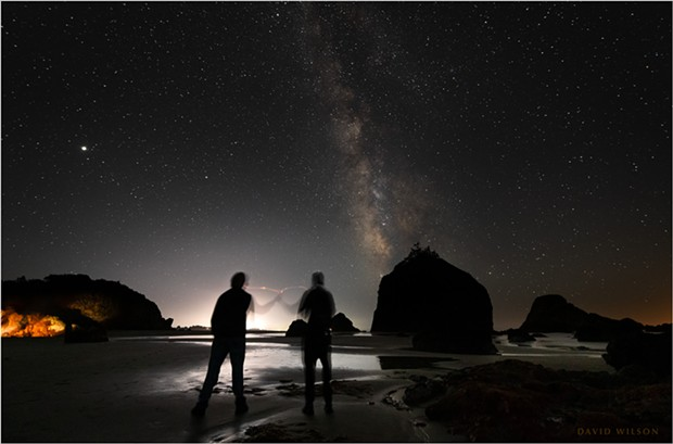 We watched Jupiter, Saturn, and the Milky Way slide across the sky as we waiting for another meteor… But three major meteors in one night was not to be, not for us. September 10, 2021 at Houda Point Beach, Humboldt County, California. - DAVID WILSON