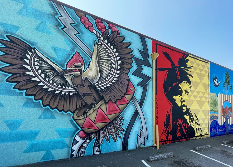 The Native Mural Project in Henderson Center. - JONATHAN WEBSTER