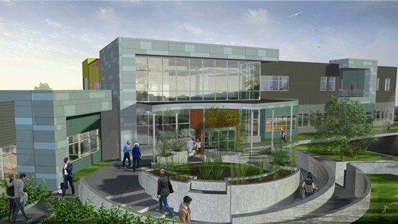 An artist's rendering of what the Arcata Community Health Center will look like once complete. - SUBMITTED