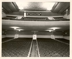 Lower-level seating, circa 1939-1949. - COURTESY OF CHUCK PETTY AND THE EUREKA CONCERT AND FILM CENTER