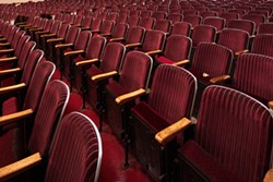 The restored seating in the Eureka Theater. - PHOTO BY RYAN FILGAS.