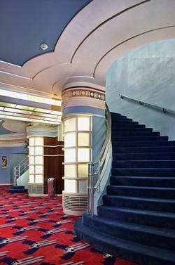 The restored lobby, true to its original color scheme. - PHOTO BY RYAN FILGAS