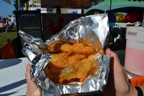 Fried pickles. - GRANT SCOTT-GOFORTH