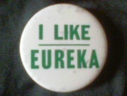 The original button, found at a Fortuna antiques show. - JOEL MIELKE