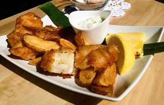 Marinated cod fish and chips at Taste of Bim. - JENNIFER FUMIKO CAHILL