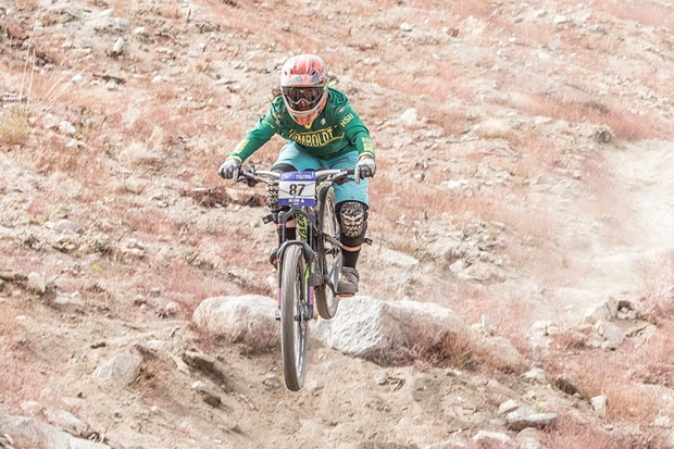 Sara Schneider winning second place in the women's A category downhill race at the Sky Tavern Sufferfest competition. - ALEXANDER WOODARD