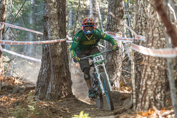 Four Humboldt State University students are competing in this weekend's USA Cycling Gravity Mountain Bike Nationals, which draws some of the nation's most competitive professional and amateur riders. - ALEXANDER WOODARD