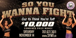 A poster advertising the Nov. 14 event. - WWW.SOYOUWANNAFIGHT.COM