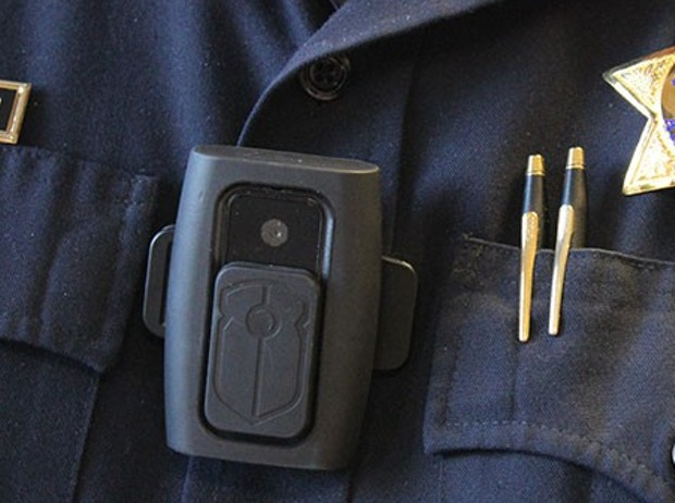 The Eureka City Council is expected to decide Tuesday whether to purchase body cameras, like the one pictured here, for its officers. - THADEUS GREENSON