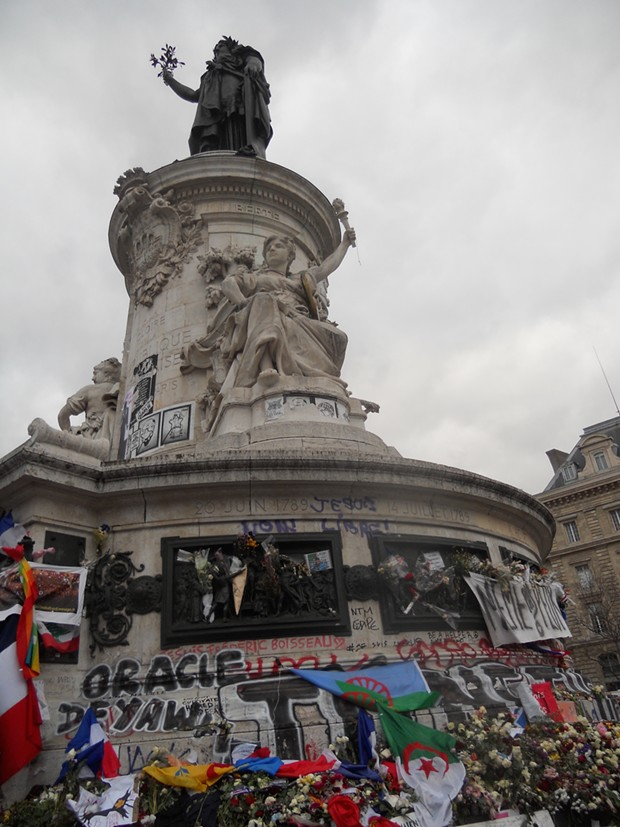 Plaza de République, Paris, on Nov. 30. - DAVID SIMPSON