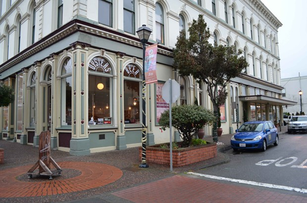 The Humboldt Bay Tourism Center's parklet should be lovely in the summertime. - GRANT SCOTT-GOFORTH
