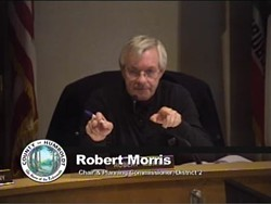 """Planning Commission Chair Robert Morris is """"outraged"""" at the county planning staff's draft ordinance."""