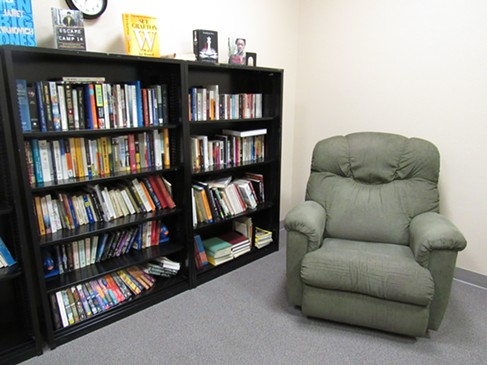 The facility's well-loved library. - LINDA STANSBERRY