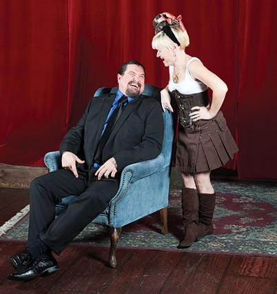Whitefeather Trotta and Nawdy Little Girl, pillars of the kink community. - MARK MCKENNA