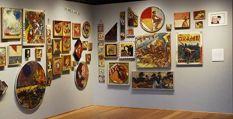 Salon style arrangement of Otto's Oregon retrospective. - FROM THE GRANTS PASS MUSEUM OF ART WEBSITE
