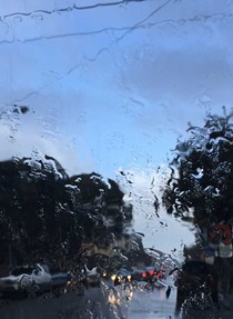 Raindrops keep falling in Eureka. - GRANT SCOTT-GOFORTH