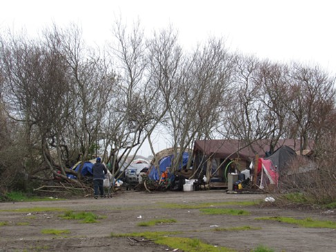 A current camp in the PalCo Marsh. - LINDA STANSBERRY