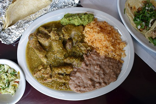 Tangy, spicy short rib chile verde. - JENNIFER FUMIKO CAHILL