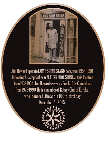 The plaque honoring Jim Howard at Third and E streets. - SUBMITTED