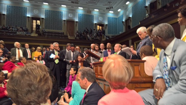 A view from the floor of the House. - TWITTER