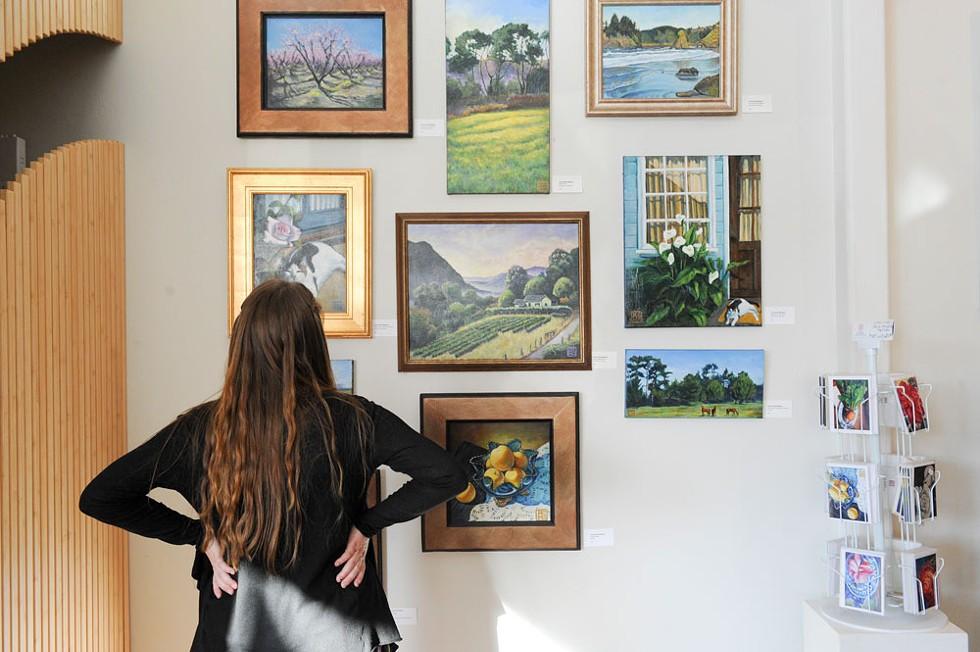 Local work at Redwood Art Association's gallery. - MARK MCKENNA