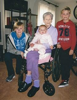 Jeannie Newstrom with her grandchildren and great grandchild. - COURTESY OF SHARON CROSSLAND