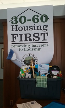 """A local outreach group is coordinating """"welcome home"""" gifts for the newly housed. - LINDA STANSBERRY"""