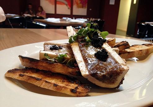 Good bones: marrow and caviar at Five Eleven. - JENNIFER FUMIKO CAHILL