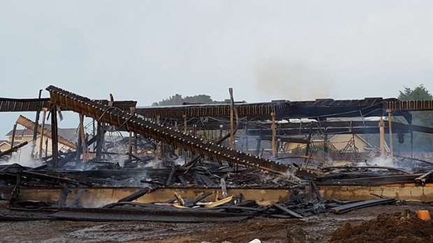 The burnt-out remains. - ARCATA FIRE