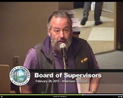 Lee Ulansey addresses Humboldt County Supervisors. - HUMBOLDT COUNTY VIDEO