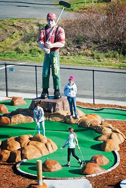 Mini golf on the Samoa Peninsula. - MARK MCKENNA