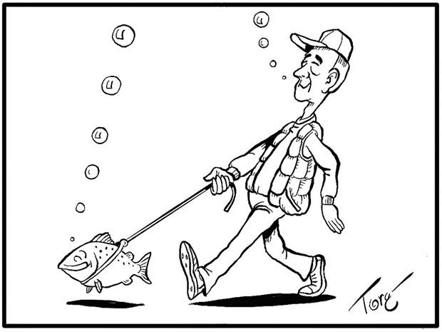In many parts of the County you could take your fish for a walk. - TERRY TORGERSON