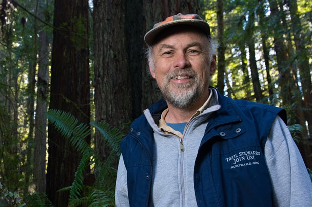 Arcata Community Forest Trail Stewards Coordinator Rees Hughes. - BEAU SAUNDERS
