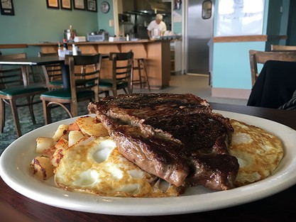 Serious steak and eggs. - JENNIFER FUMIKO CAHILL