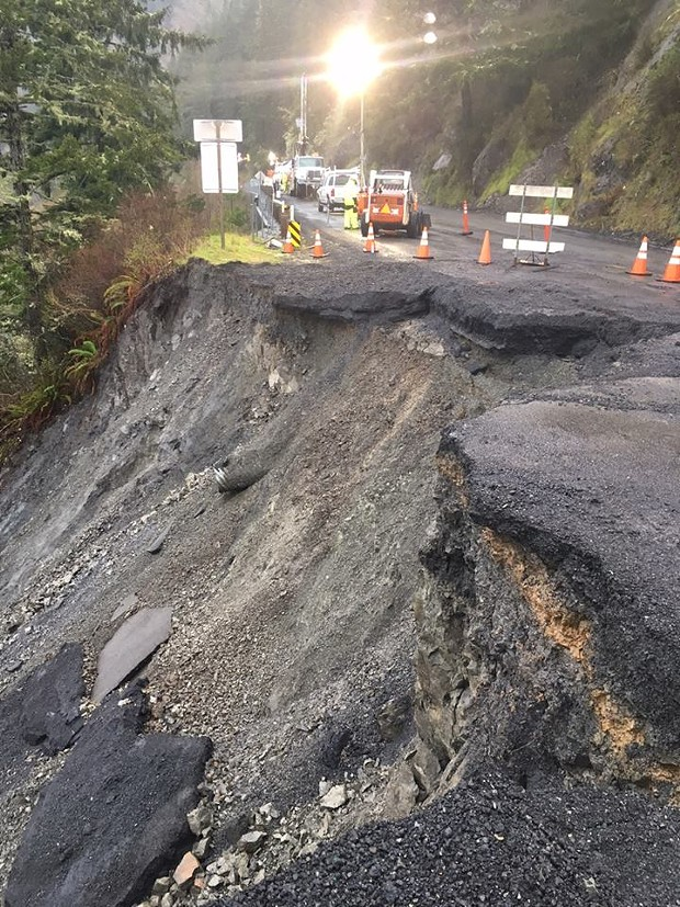 The lasted  slip out at Last Chance Grade. - CALTRANS