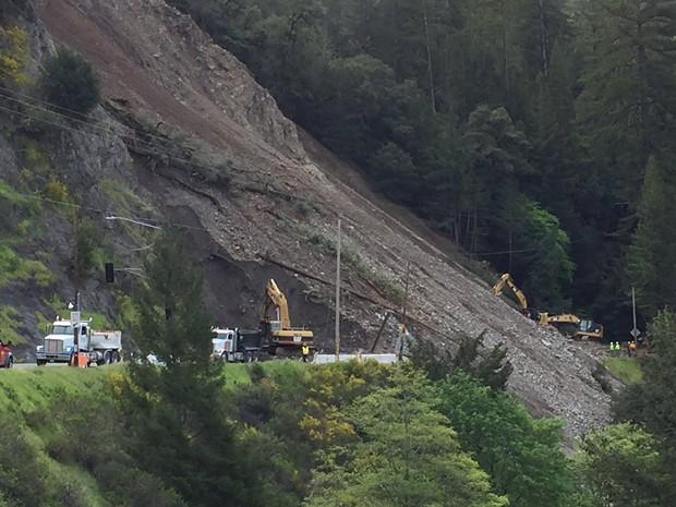 The slide north of Leggett. - COURTESY OF CALTRANS