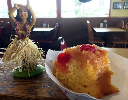 Pineapple upside down cake is peak American retro dessert. - JENNIFER FUMIKO CAHILL