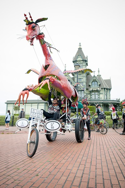 The majestic Kinetic Kootie rides again with the Carson Mansion as backdrop. - MARK MCKENNA